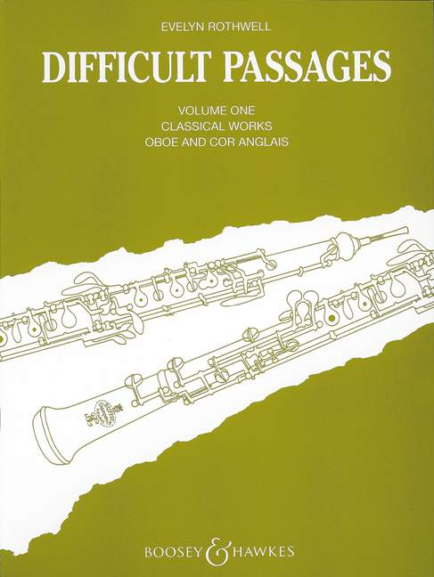 cor anglais 1 oboe Difficult Passages Vol 9790060022920